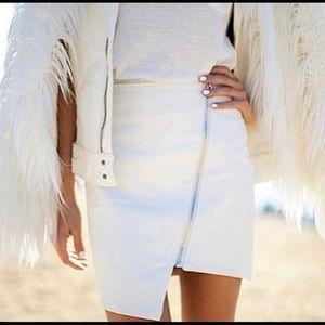 Wilde Heart Asymmetrical Zipper Skirt